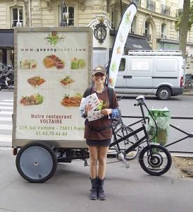vélo publicitaire VILLOPUB